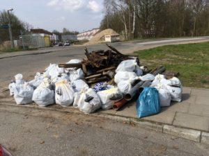 Mit eurer Hilfe könnte es auch dieses Jahr wieder so an unserer Müllsammelstelle aussehen